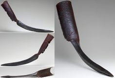 Indian elephant sword, 15th to 17th century, iron/steel, L. 24 in. (61.2 cm); Wt. 5 lb. 3 oz. (2362 g), Met Museum. Elephants were used in warfare in India for approximately a thousand years. In addition to armor, war elephants sometimes were equipped with tusk swords, which are pairs of blades specially designed to be attached to an elephant's tusks. Hundreds or thousands of elephant swords may have existed in the past, only four pairs and this single example survive today.