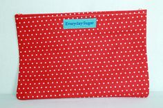 Red Polka Dot Dry Goods Snack Bag Ready To Ship by SeaShellee, $4.00