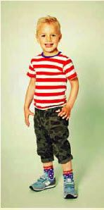 This red stripy tshirt from Mini A Ture can't fail but cheer anyone up! £19.99
