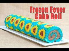 Frozen Fever Sunflower Cake Roll https://www.youtube.com/watch?v=B4_EJXXKmEE #hanielas #cakeroll #frozen #frozenfever #patterncakeroll #recipe