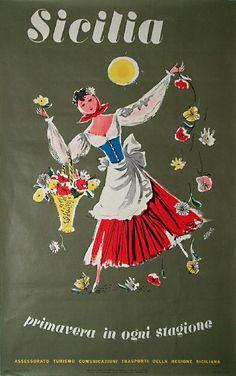 Sicilia - Primavera in ogni stagione - Artass - 1965 - Assessorato Turismo Comunicazioni Trasporti Della Regione Siciliana
