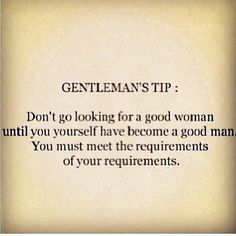 The Gentleman's Guide. Well, this applies for the ladies too. ;)