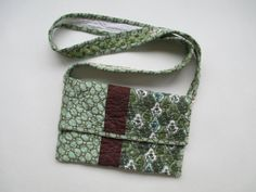 Upcycled Crossbody Quilted Purse by KeyLimeLouise on Etsy, $34.99