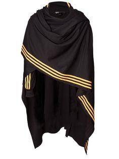 Unisex Track Poncho Blackyellow in Black for Men Mens Poncho, Hooded Poncho, Hooded Cloak, Cyberpunk Fashion, Black N Yellow, Black Cape, Costume Design, Mantel, Fashion Brands