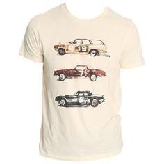 Lässiges beiges T-Shirt von Jack & Jones. Es hat einen tollen Auto-Print im Vintage Stil. Du kannst es vielseitig kombinieren. - ab 19,00 €