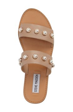 dc511569f steve madden jole pearl slide sandal Top 10 Shoes