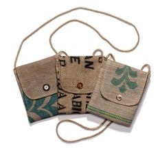 burlap purses | Unique, no two are exactly the same, patterns on burlap and ties will ...