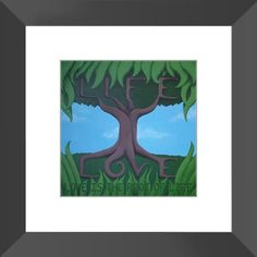 Love is the Root of Life - Framed Print of Acrylic Paint Fine Art - The Unfolding Butterfly