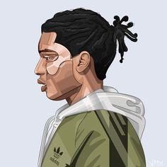 Praise the lord by NoisyBoy Asap Rocky Fashion, Pretty Flacko, A$ap Rocky, Hip Hop Art, Ap Art, Praise The Lords, Creative Outlet, Going Out, Illustration Art