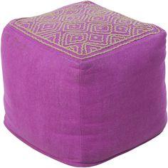 Standard Pink Cube Pouf
