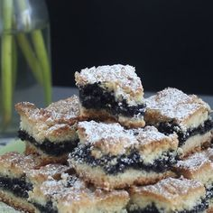 Sweet crumbly bars with a delicious poppy seed center!