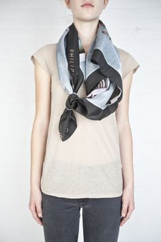 Polaroid scarf by Philippe Roucou. Sold out but great fashion inspiration. DIY via http://haydenharnett.com/index.cgi?action=bespoke_scarf