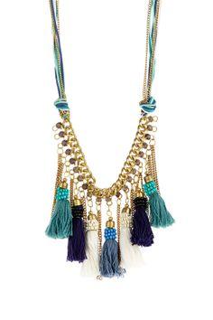 Retrouvez tout plein de pompons de toutes les couleurs et de toutes les tailles avec les accessoires textiles de Perles & Co ici : http://www.perlesandco.com/Mercerie_Custo_Accessoires_textile-c-2629_199.html  Tassle Necklace on HauteLook