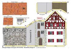 Georgstor – Isnyer Tor von Wangen 1:87 gebaut von Adolf Pirling Georgs11 Paper Glue, Diy Paper, Paper Crafts, Cardboard Toys, Christmas Villages, Paper Houses, Paper Models, Model Homes, Model Trains