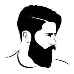 Free vector man silhouette hipster fashion Vector Man Obtain Beard Styles For Men, Hair And Beard Styles, Hipster Vector, Arte Linear, Beard Logo, Estilo Hipster, Inspiration Artistique, Beard Art, Barbershop Design
