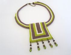 MADE TO ORDER Crochet necklacetribal by GiadaCortellini on Etsy