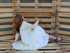 Sweter+letni+w+kolorze+białym+w+PAPAVERart+na+DaWanda.com
