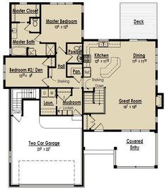 Downsizing Delight - 18246BE | 1st Floor Master Suite, Butler Walk-in Pantry, CAD Available, Cottage, Craftsman, Den-Office-Library-Study, Exclusive, Narrow Lot, PDF, Photo Gallery, Sloping Lot | Architectural Designs