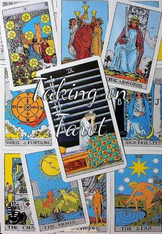 Nine of Swords: Taking On Tarot, a self-study of the Universal Waite Tarot deck created by Stuart P. Kaplan, drawings by Pamela Colman Smith, recolored by Mary Hanson-Roberts, published by U.S. Games Systems, Inc.