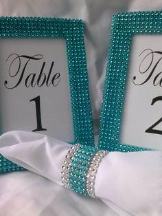tiffany blue table settings | Set of 10 - Tiffany Blue 4x6 Frames - Table Number Frames, Menu ...