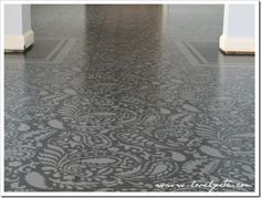 This is stenciled SUB FLOORING!