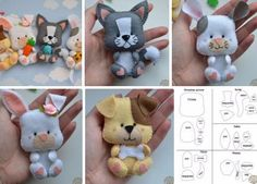 Toys made of felt. Schemes and patterns of felt toys for beginners