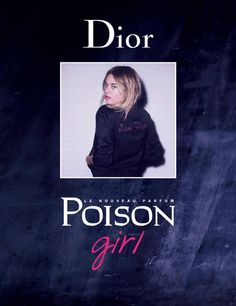 Camille Rowe wears an embroidered jacket in Dior's Poison Girl perfume campaign