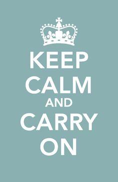 Keep Calm - Print & frame :)