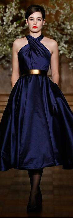 Dior ~ Sapphire cocktail dress.