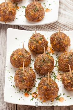 These Zesty Sausage Cheese Meatballs are mouthwatering. They're full of savory goodness from ground sausage, sharp cheddar, and spices. Sausage Meatballs, Cheese Stuffed Meatballs, Chicken Nachos Recipe, Chicken Wing Recipes, Breakfast Potato Casserole, Caramelized Onion Dip, Snack Mix Recipes, Honey Mustard Sauce, Albondigas