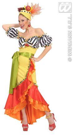 Brazil-carmen Miranda - - - by Widmann - Carmen Miranda Brazilian Samba Singer and Actress Most Perfect Prom Dress, Fancy Dress, Dress Up, Carmen Miranda Kostüm, Costume Hippie, Havana Nights Dress, Girls Dresses, Prom Dresses, Wedding Dresses
