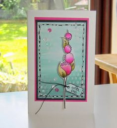 Flower Card {with JoFY Stamps by Jan McGregor}