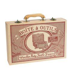 Boîte à outils Moulin Roty - Tools box  www.lepingouindelespace.com