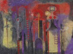 Rufino Tamayo, Tres personajes 1970 on ArtStack #rufino-tamayo #art