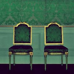 green chairs  This Ivy House