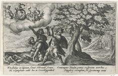 Erysichthon hakt de boom van Ceres om, Crispijn van de Passe (I), 1602 - 1607