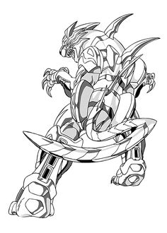 Bakugan coloring pages for kids, printable free