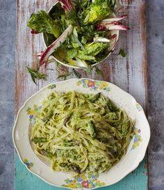 Nudeln mit Fisch: Forelle auf Fettuccine nach einem Rezept von Jamie Oliver!