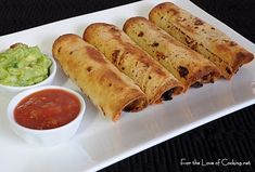 For the Love of Cooking » Ground Beef, Black Bean, and Cheddar Cheese Taquitos