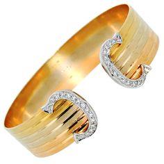 CARTIER Trinity Gold & Diamond Cuff