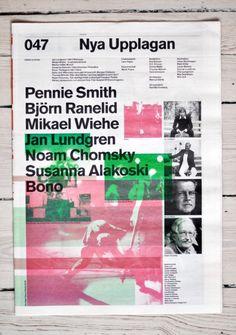 typography, newspaper, fox is black, nya upplagan Layout Design, Print Design, Web Design, Design Trends, Logo Design, Graphic Design Brochure, Graphic Design Illustration, Editorial Layout, Editorial Design