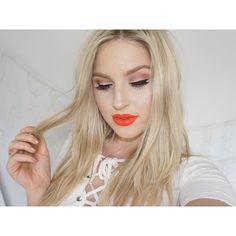 New makeup look  http://youtu.be/81UtJeA4d50  who else loves orange lips?  #shaaanxo