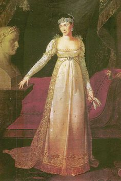 regency court dress | This depicts the new court dress style for women in France under ...