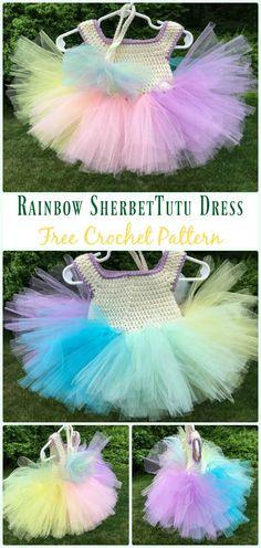 DIY Crochet Tutu Dress Bodice Free Patterns Crochet Girls, Crochet For Kids, Free Crochet, Irish Crochet, Crochet Ideas, Baby Clothes Patterns, Crochet Baby Clothes, Sewing Patterns, Barbie Patterns