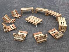 Garnituren - Palettenmöbel Palettensofa Sitzgruppe Upcycling - ein Designerstück von FETTE-PALETTE bei DaWanda