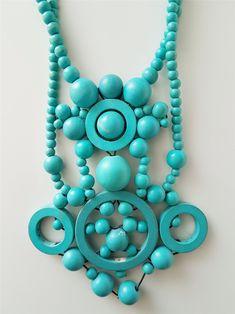Turquoise Necklace, Retro Vintage, Jewelry, Jewlery, Jewerly, Schmuck, Jewels, Jewelery, Fine Jewelry