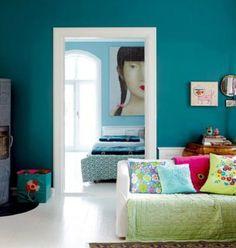 pareti verdi arredo legno scuro - Cerca con Google
