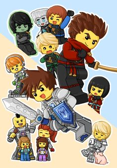 Ninjago VS Nexo Knights<<< love this drawing but ninjago wins Ninjago Kai, Lego Ninjago Movie, Lego Movie, Lego Tv, All Lego, Little Kid Shows, Kids Shows, Lego Ritter, Arte Ninja