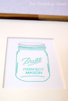 Mason Jar Art with Silhouette Sketch Pens.  A tutorial by The Thinking Closet