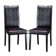 Baxton Studio Set Of 2 Dark Brown Side Chairs Eveleen Din Chr-2